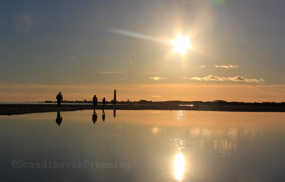 Coucher de soleil à la pointe de Skagen