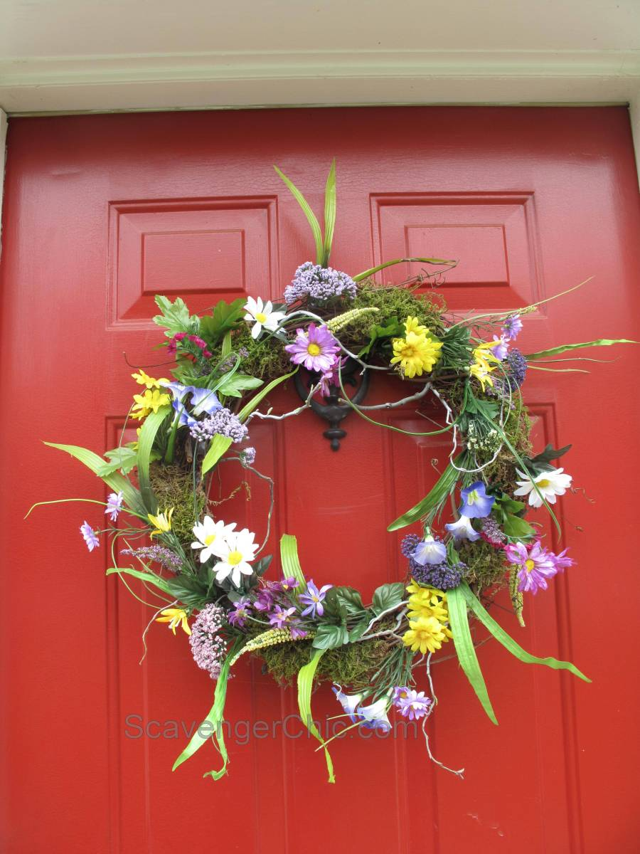 Spring And Summer Wreath Diy Scavenger Chic