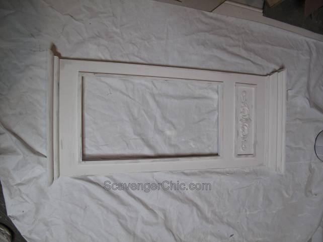 Painted Trumeau Style Mirror before Sanding