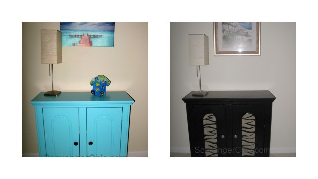 Painted side table makeover/ DIY