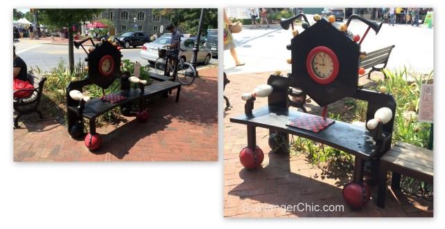 Reclaimed objects Bench Takoma Park MD