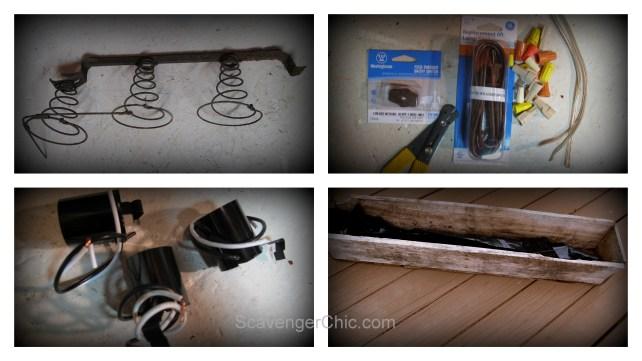 Pallet Wood and Bedsprings Light DIY
