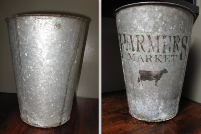 Farmers Market Galvanized Tin