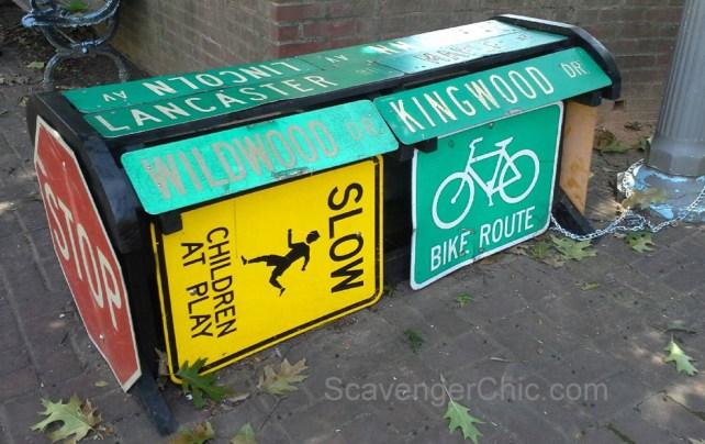 Street Sign Bench, Takoma Park MD