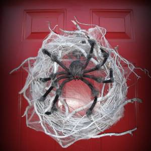 Spider Halloween Wreath diy