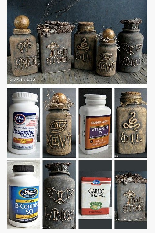 Halloween apothecary jars from Pinterest