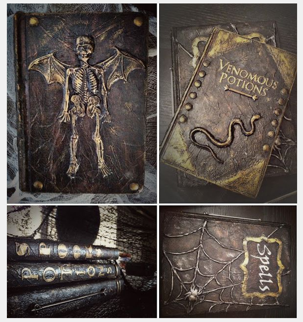 Halloween spell book from Pinterest