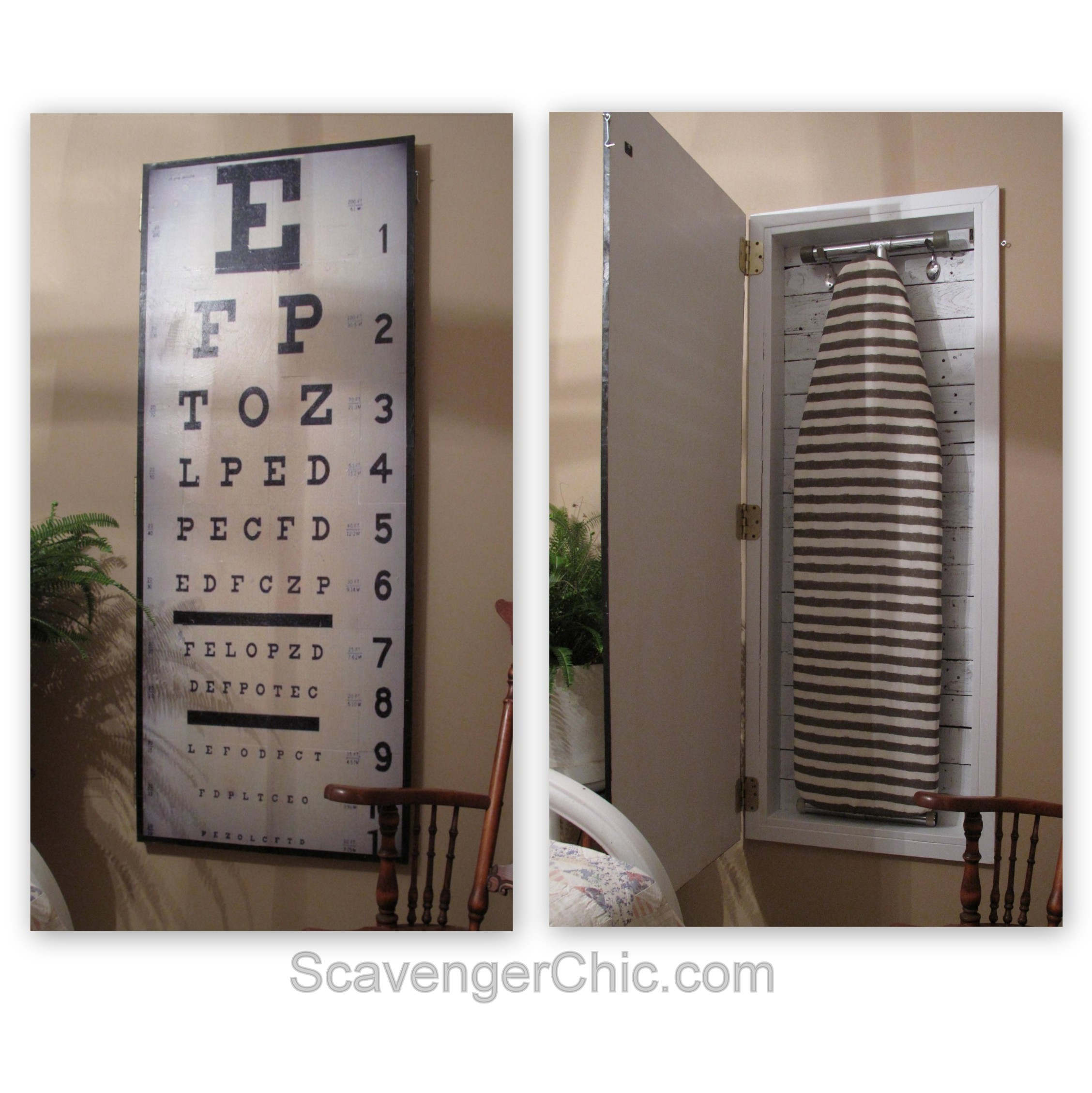 Charmant When My My Sister In Law Saw My New Cabinet, Her First Thought Was An EYE  Chart For An EYE Roning Board Cabinet. I Wish I Had Thought Of That, ...