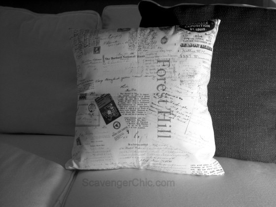 Decorative pillow, Graphic pillow diy, Printing on Fabric diy, Pillow ideas, Personalized vintage pillow, Transfering Letters to Fabric, Pillow diy