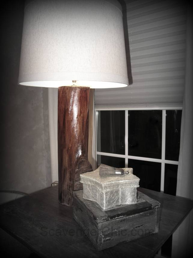 tree stump lamp, recycycled tree stump, upcycled tree stump, unique lamp, diy table lamp, log lamp