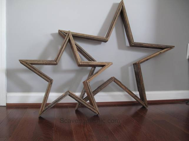 Reclaimed Wood Star, Star made from old Oak Flooring, Reclaimed Wood projects