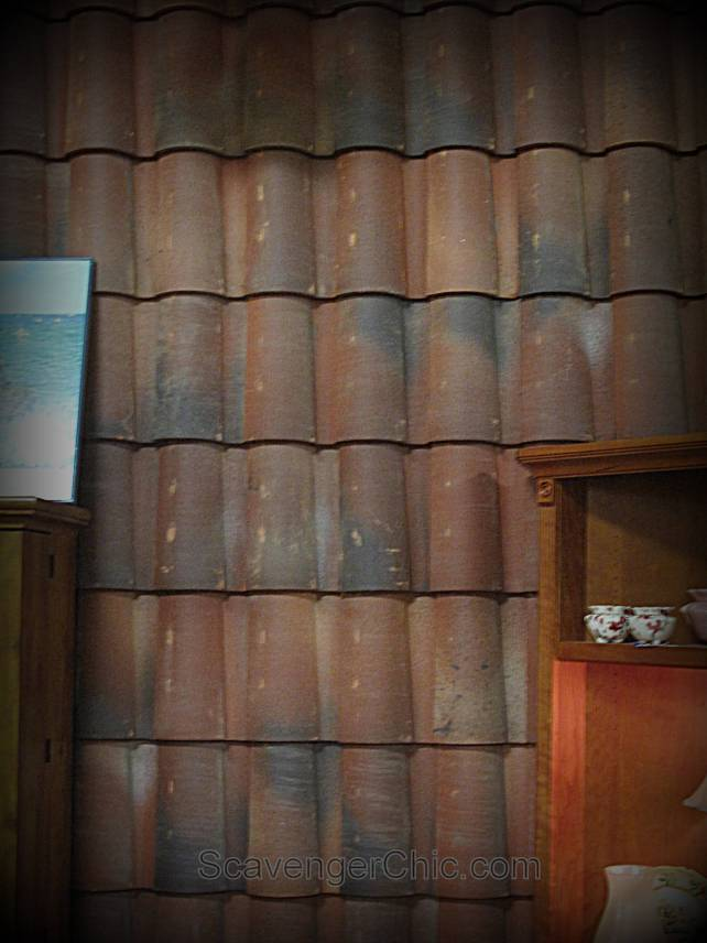 20+ amazing recycled wall ideas- Clay Roofing Tiles