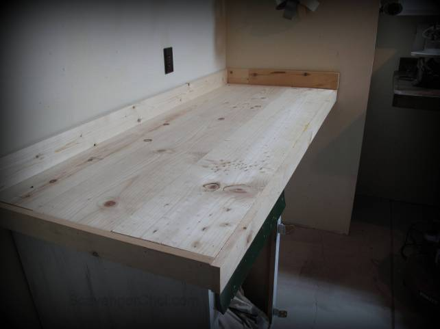 countertop makeover, wood countertop, stained wood counter, refacing laminate counter