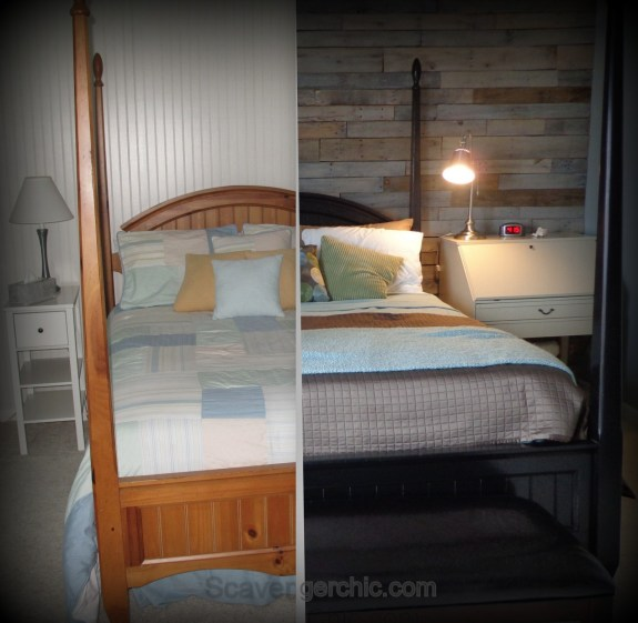diy pallet wall, pallet wood projects, rustic wall, barn wood wall, relcaimed wood wall, textured wall, before and after