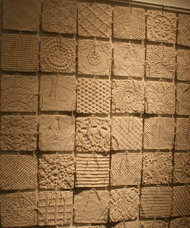 Ceramic/clay wall treatment