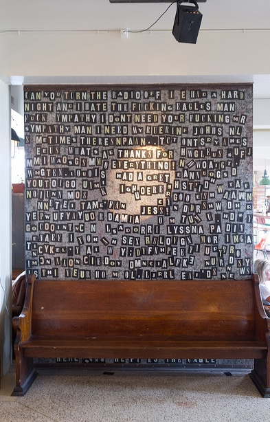 20+ Amazing Recycled Wall Ideas, Wall of Words