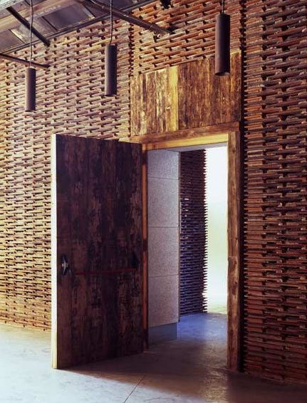 20+ Amazing Recycled Wall Ideas-Reclaimed Roof Tiles now focal wall