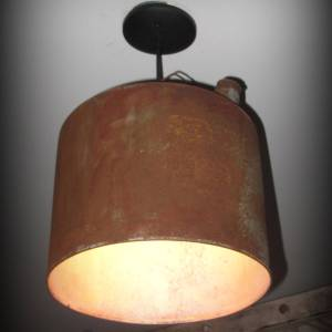 Upcycled Gasoline Can Pendant Light