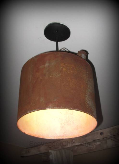 Upcycled, Recycled, Gasoline Can Pendant Light, Unique lighting, upcycled lighting, edison bulb lighting