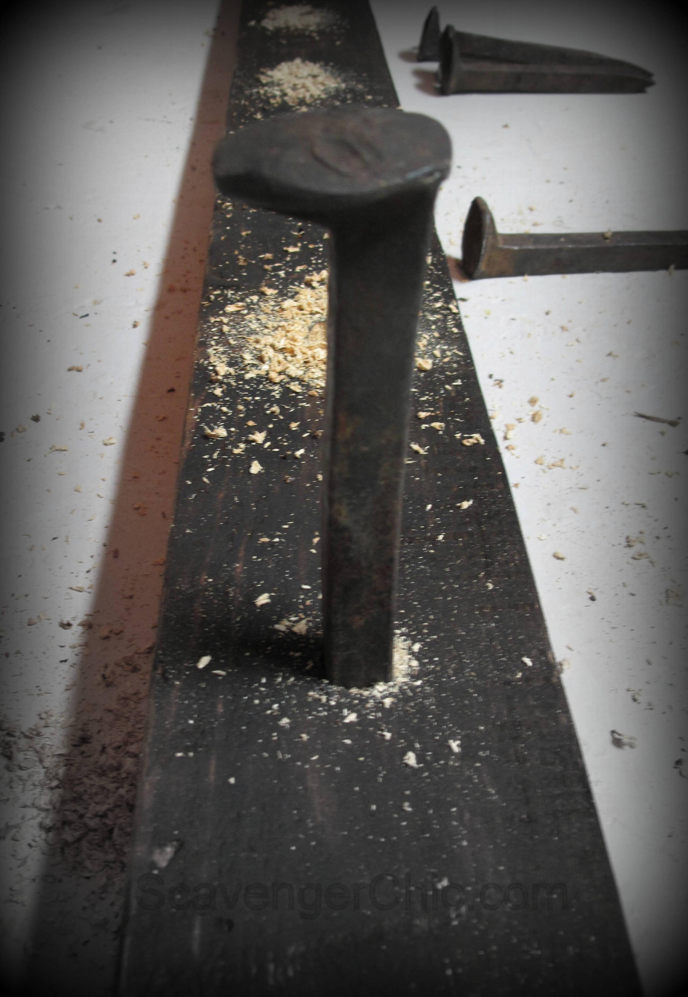Railroad Spike Coat Rack Diy Scavenger Chic