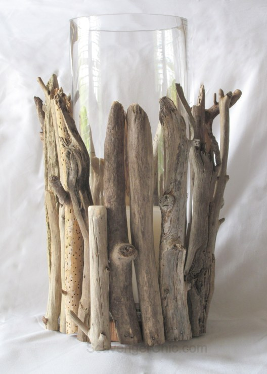 Driftwood Hurricane Lamp diy, Driftwood projects