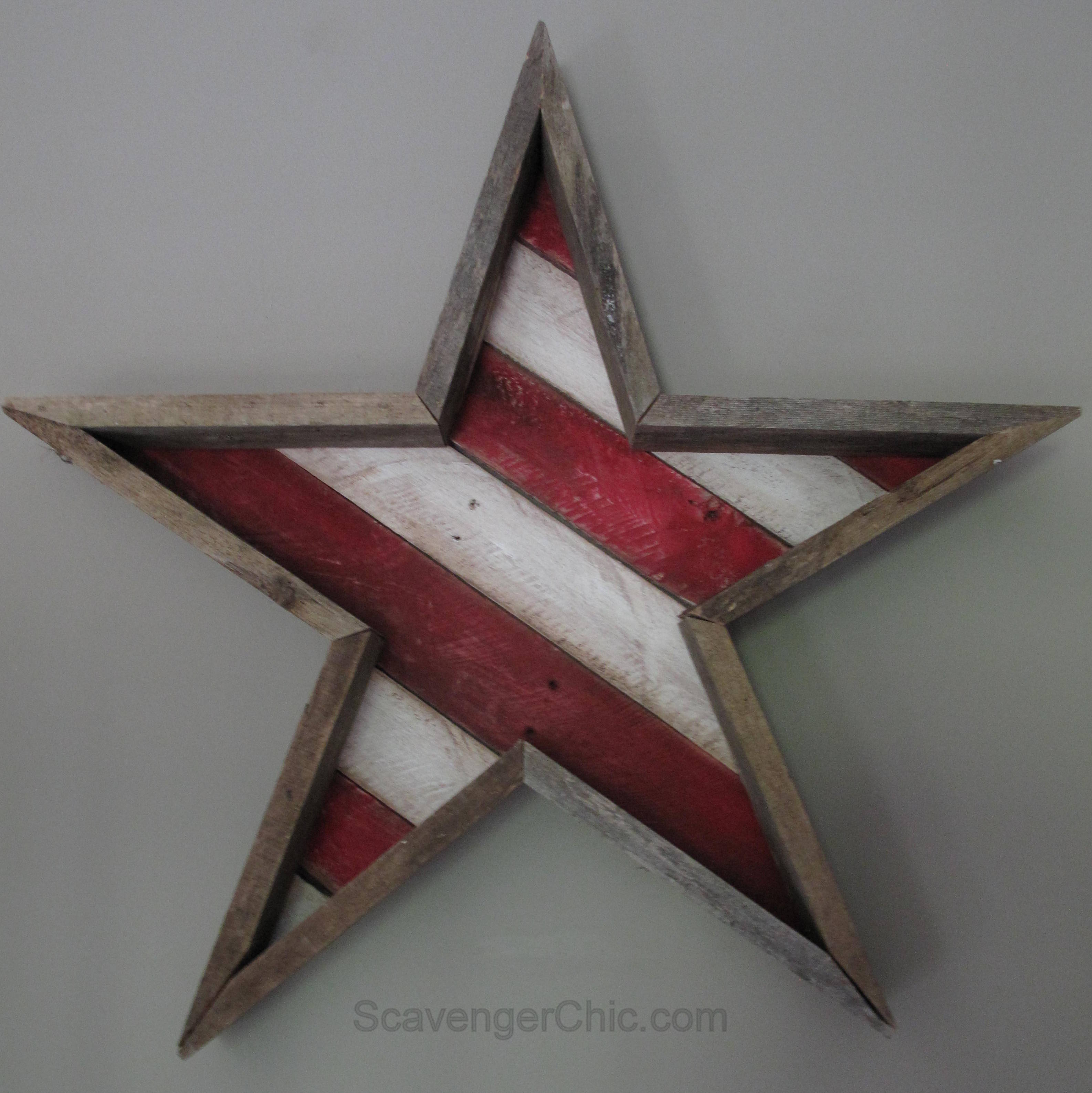 Stars And Stripes Diy Scavenger Chic