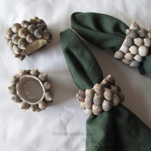 Seashell Napkin Rings diy