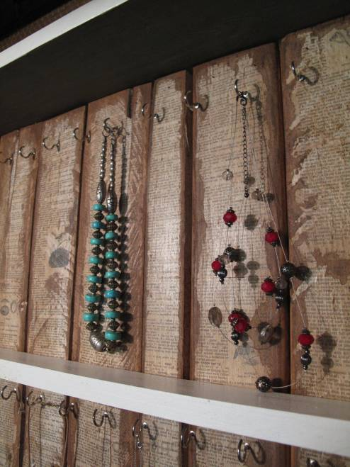 Upcycled window jewelry Cabinet diy
