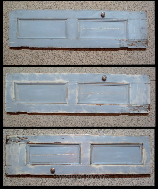 Upcycled and Recycled Mortise and Shutter Shelves