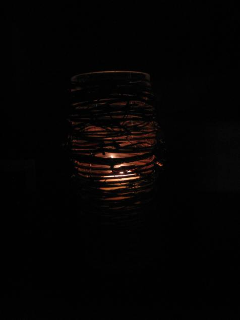 Honeysuckle Hurricane Lamp
