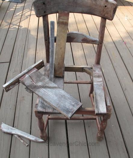 Broken Chair Planter