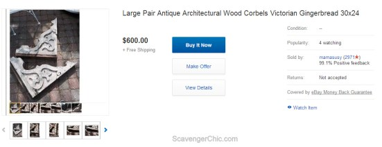 Large Pair Antique Architectural Wood Corbels Victorian Gingerbread 30x24  eBay - Google Chrome 9272015 15414 PM.bmp