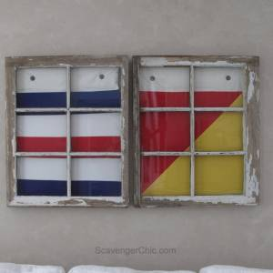 Nautical Signal Flags and Repurposed Windows