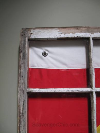 Signal Flag and Vintage Window beach decor