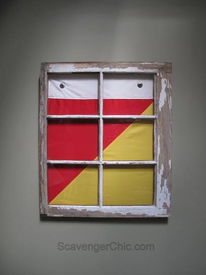 Signal Flag and Vintage Window wall decor