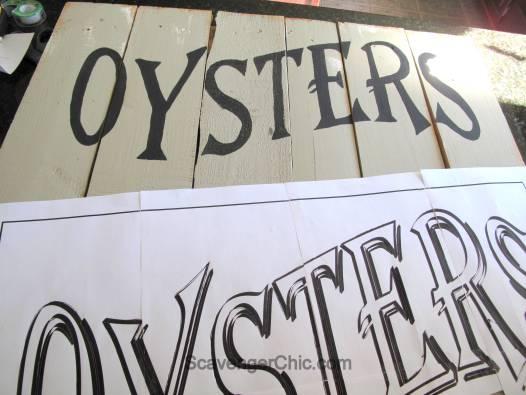 Vintage Oyster Sign diy-007