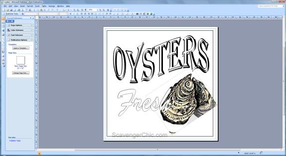 Vintage Oyster Sign diy.bmp