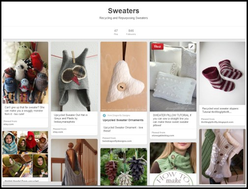 Pinterest Recycling Sweater ideas