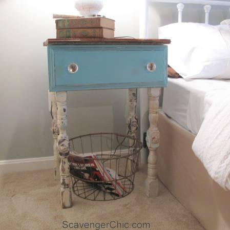 Repurposed Drawer side Table-004