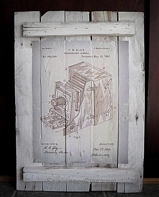 Finding Vintage Patent Artwork, diy pallet project