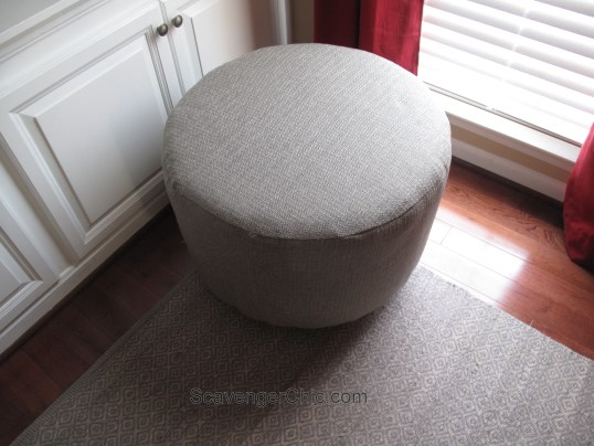 Upcycled Wire Spool Ottoman-016