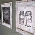 Vintage Patent Blueprints Calendar Pallet Wall Art