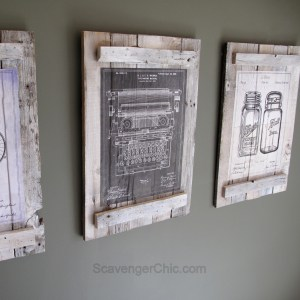 Pallets and Calendars diy Wall Art
