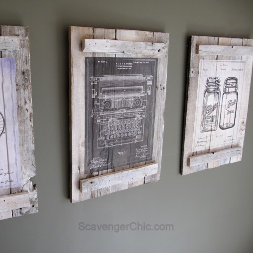 Pallets and calendars diy wall art scavenger chic vintage patent blueprints calendar pallet wall art malvernweather Choice Image