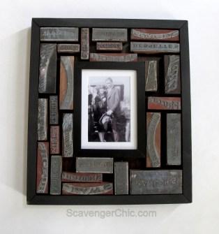 Antique Printing Blocks frame