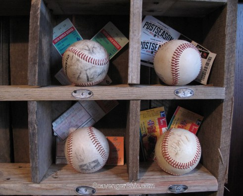 DIY Cubby Organizer Shelves with soda can number labels