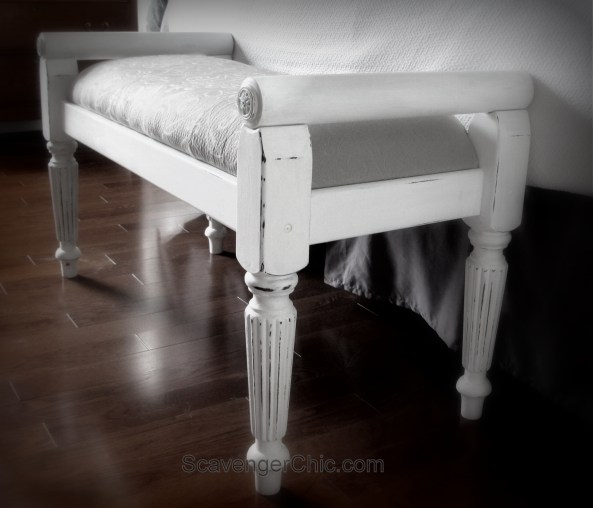 Recovered Thrift Store Bench and Chalk Paint, easy makeover