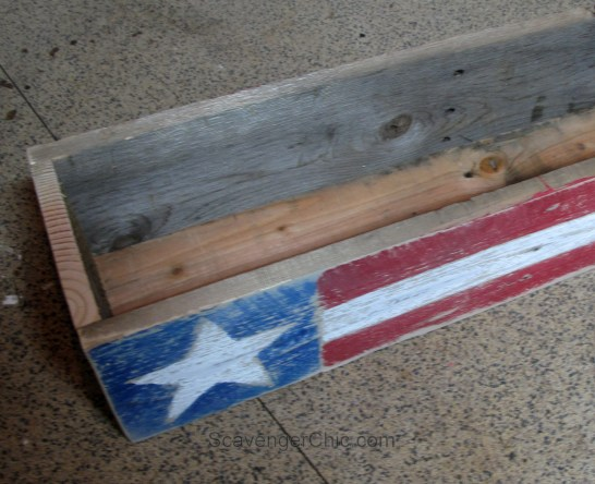 4th of July, Independence Day, Flag, pallet wood centerpiece-006