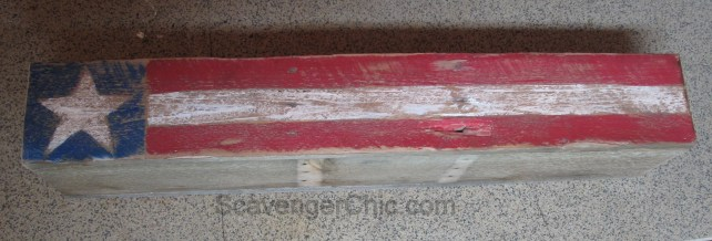 4th of July, Independence Day, Flag, pallet wood centerpiece-007