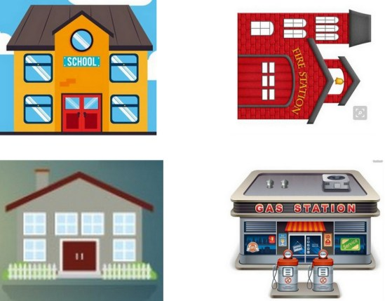 Graphics for Matchbox Town  Play Table